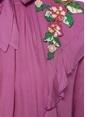 Sister Jane Bağcıklı Fırfırlı Mini Elbise Mor